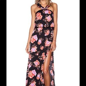 Tularosa black floral maxi dress BRAND NEW